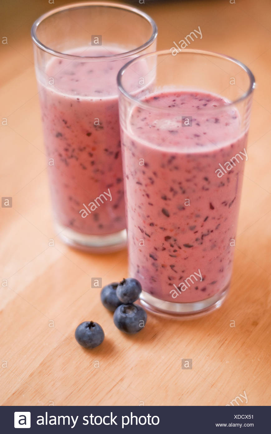 Blueberry Smoothie - Stock Image
