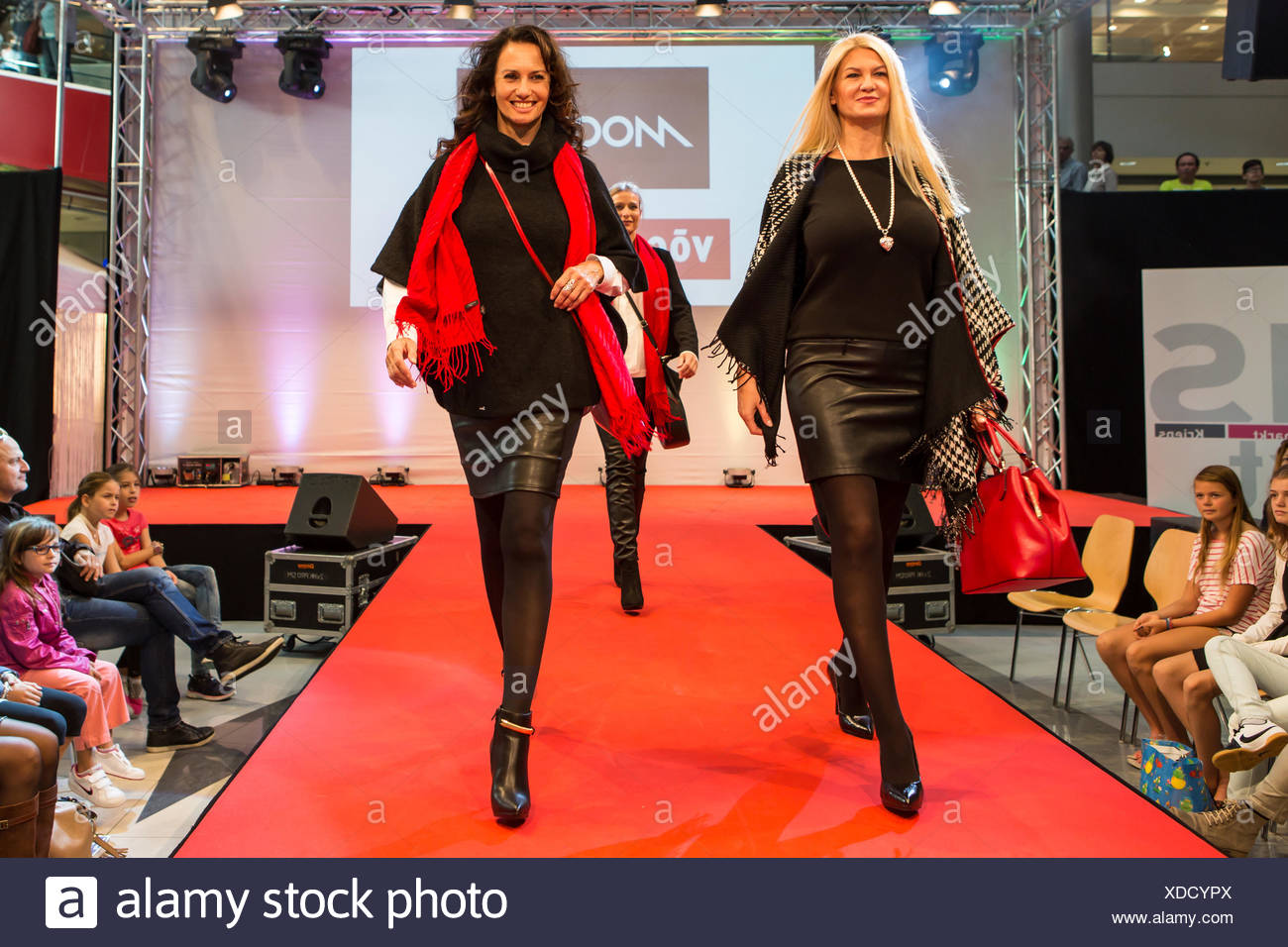 Fashion Show in Pilatusmarkt in Kriens, Lucerne, S Stock Photo