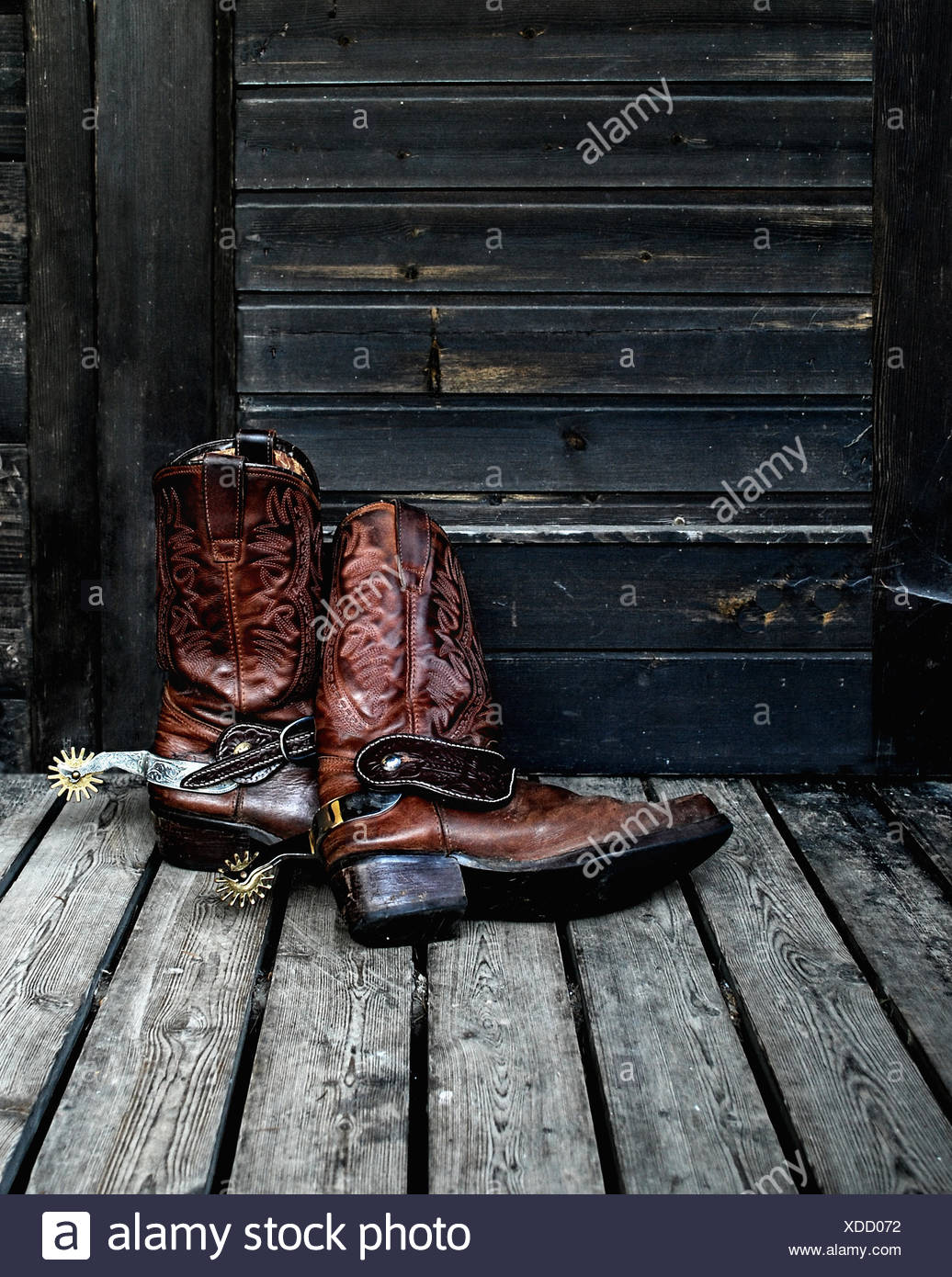 82d528c7330 boot leather cowboy western spores boot wood nostalgia door shoes ...