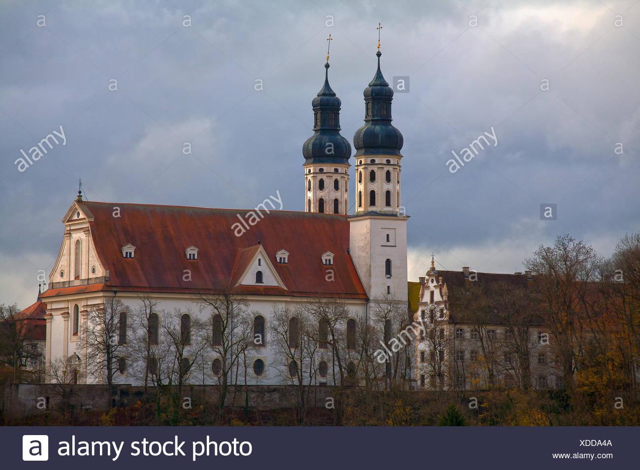 Monastary church Obermarchtal, Germany - Stock Image