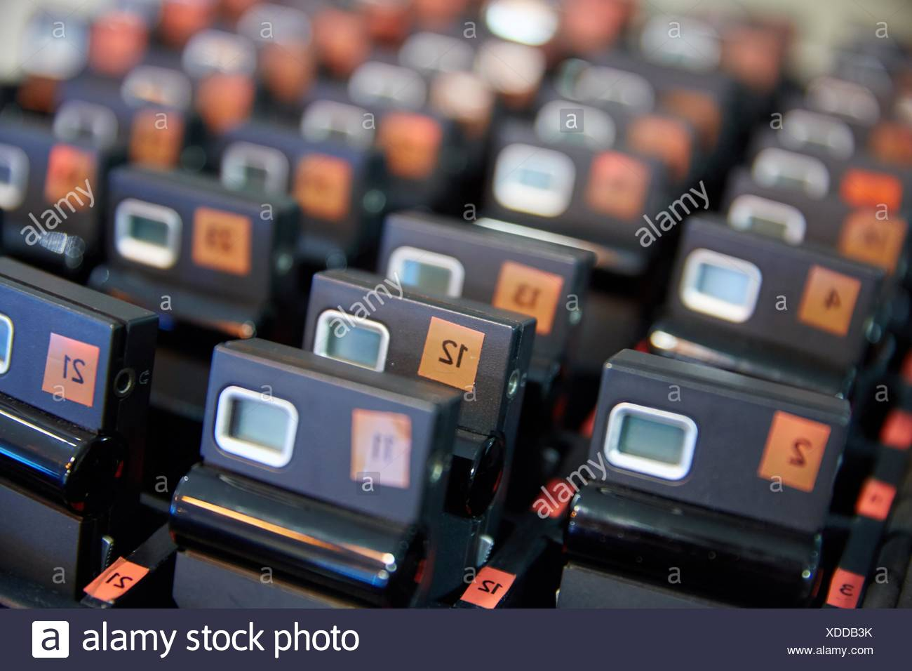 Devices for simultaneous translation. Congress. Seminar. - Stock Image