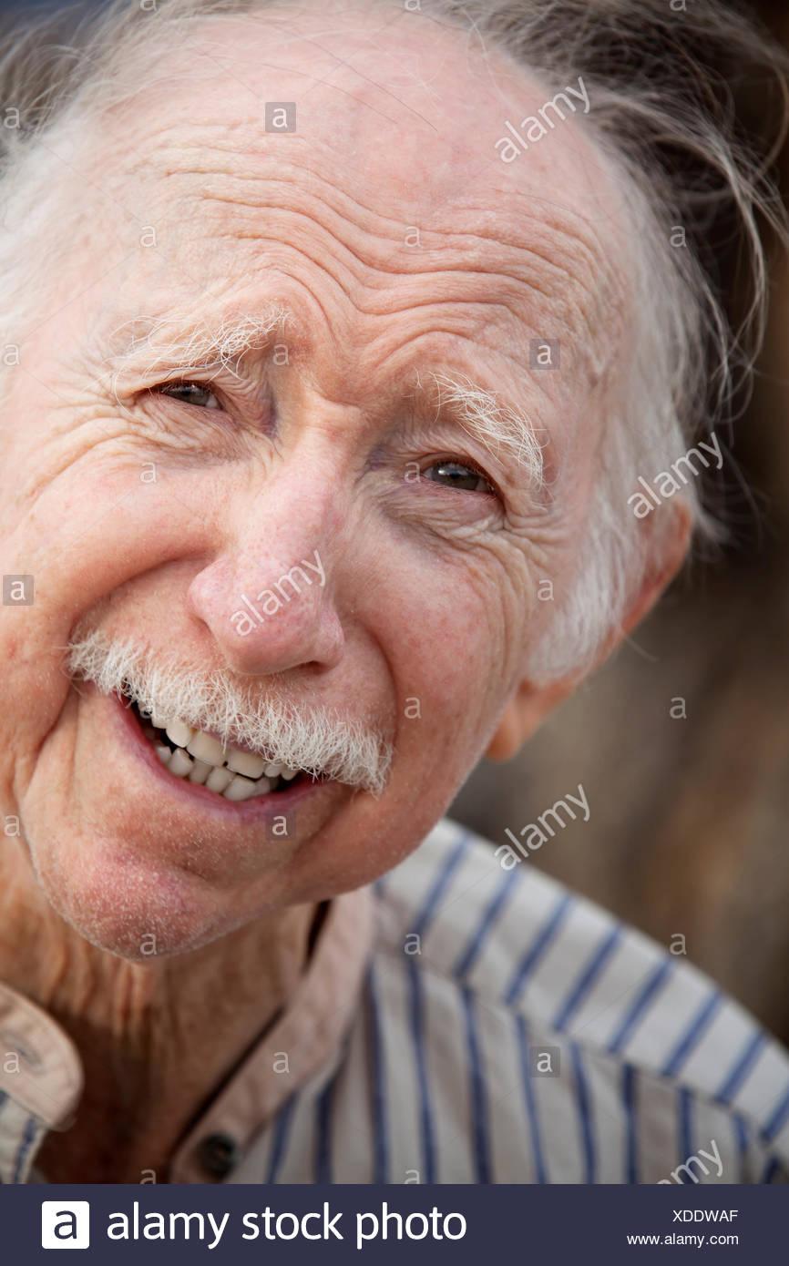 handsome wrinkle old - Stock Image