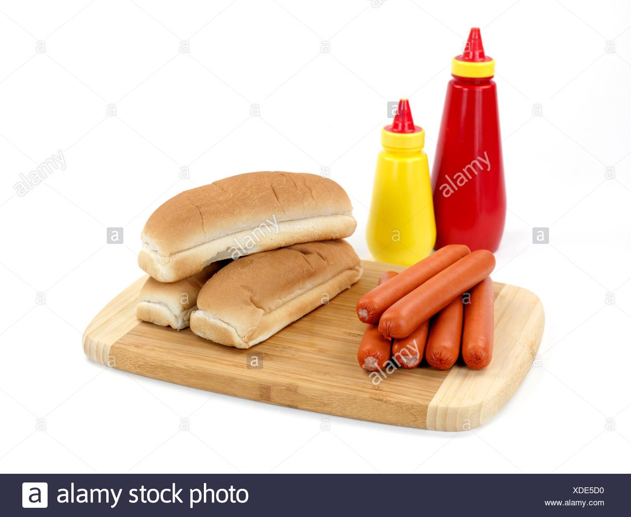 Frankfurt sausages isolated against a white background - Stock Image