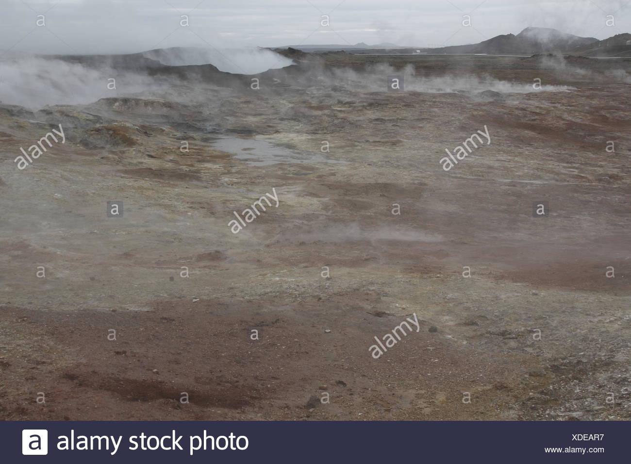 Gunnuhver geothermal field. Reykjanes Peninsula Stock Photo