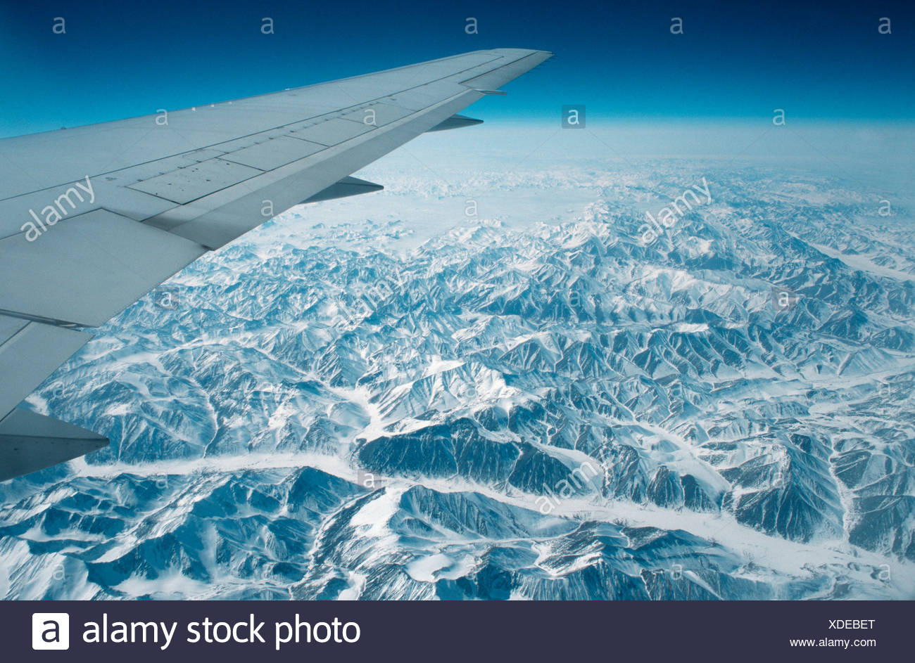 View from airplane / Blick aus Flugzeug - Stock Image