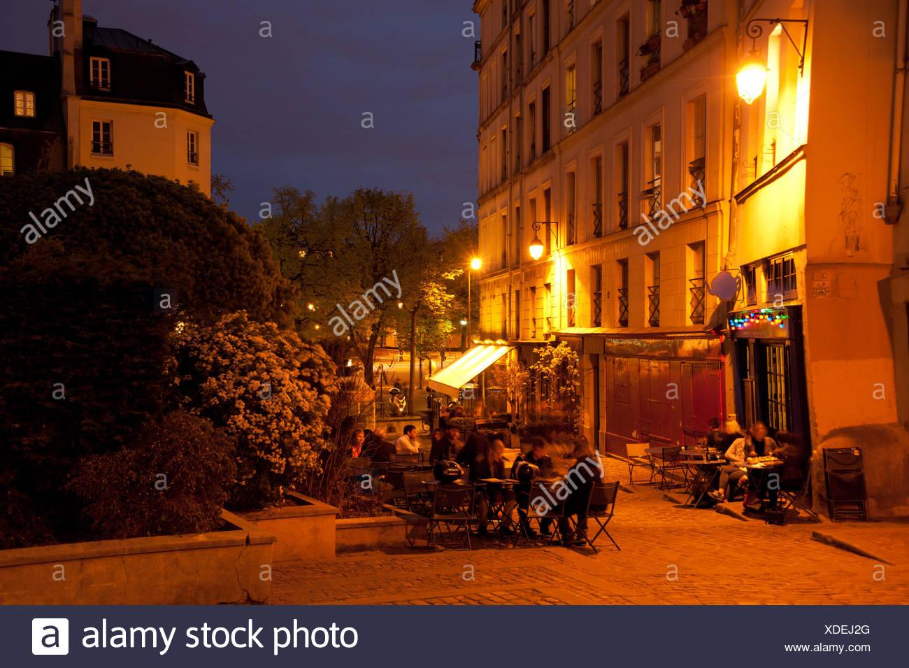 Abend in Paris - Stock Image