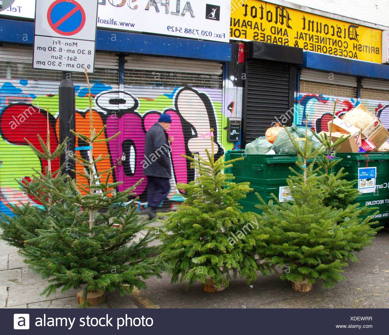 Recycling Christmas Trees Stock Photos & Recycling Christmas Trees ...