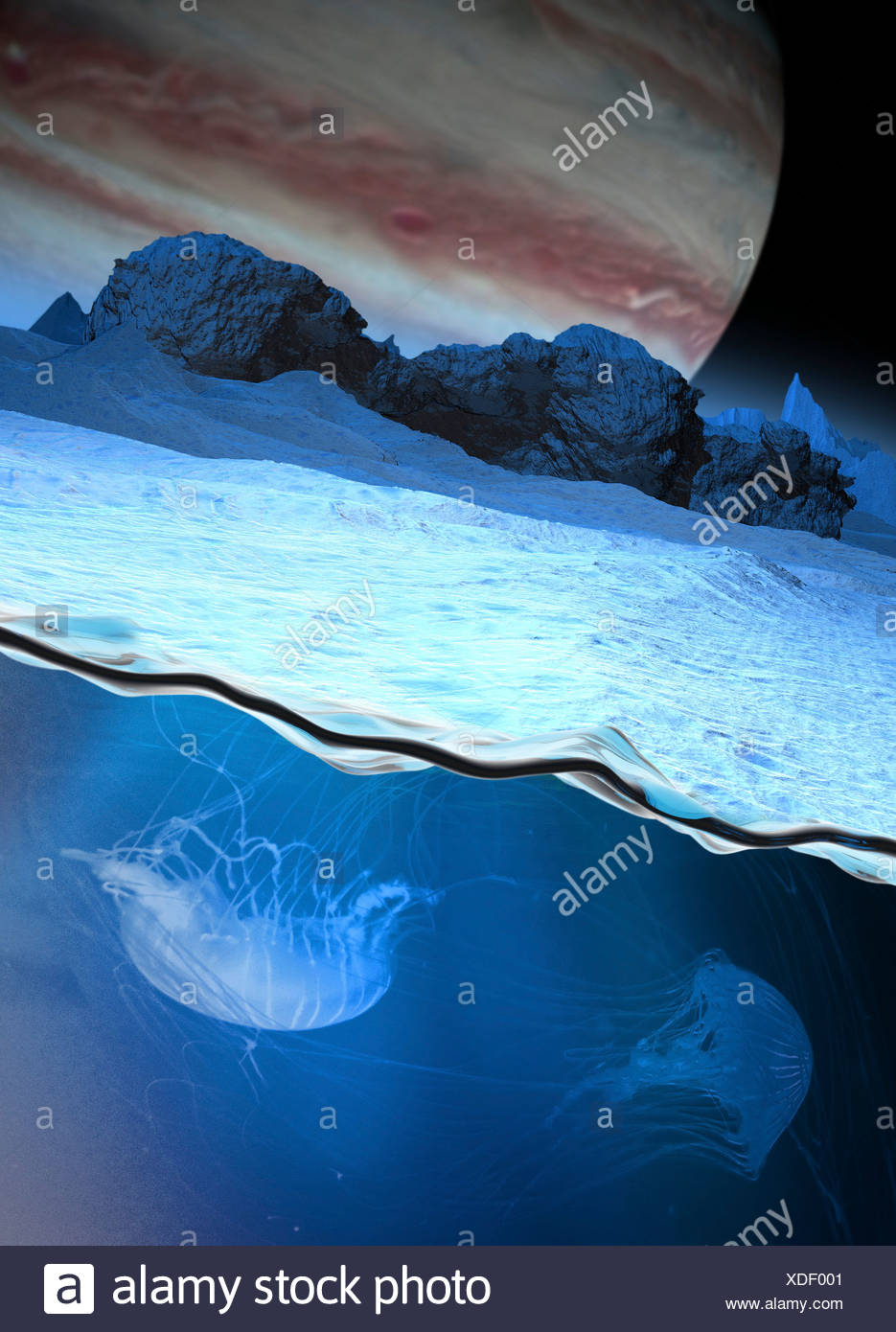 Alien life, artwork - Stock Image
