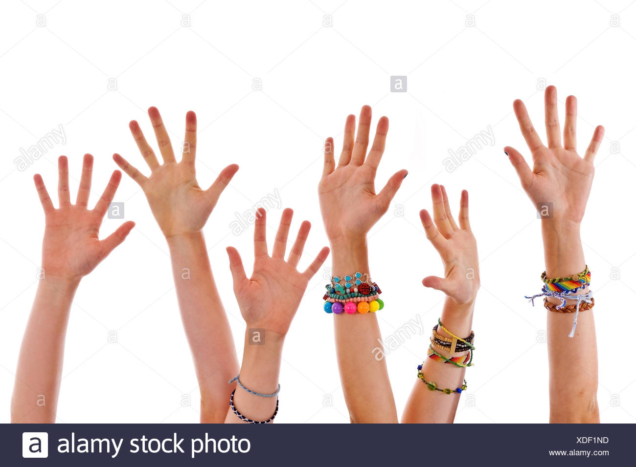 Hands up - Stock Image