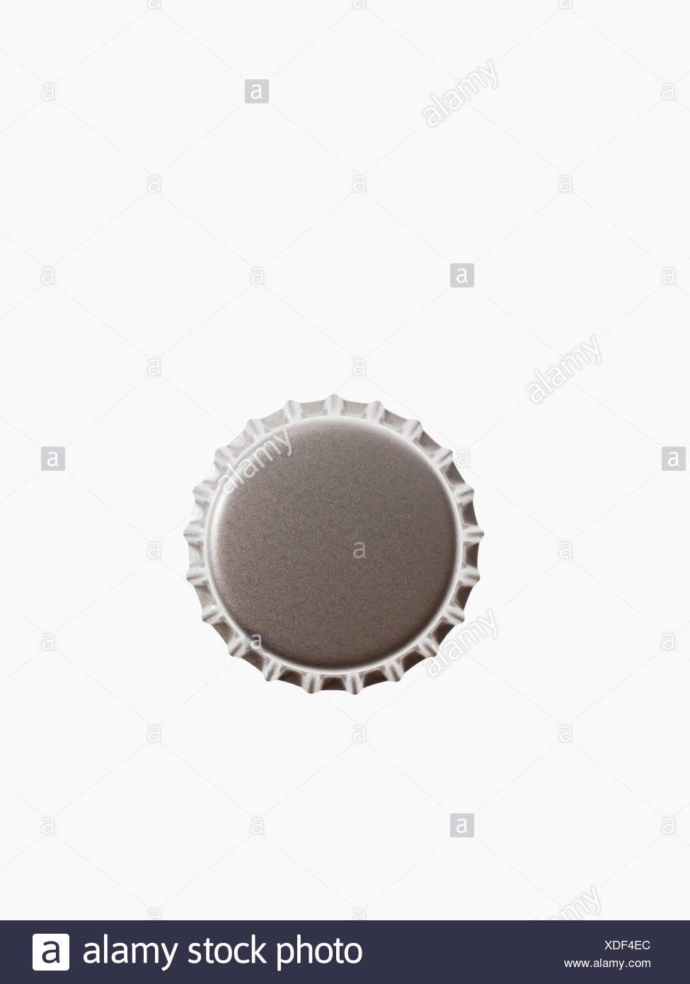 Studio shot of grey bottle cap Stock Photo