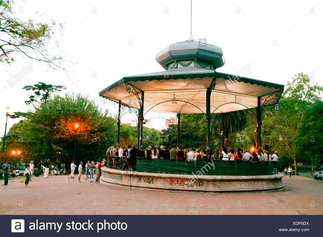 Pavilion, Milonga, Belgrano district, Buenos Aires, Argentina, South America - Stock Image