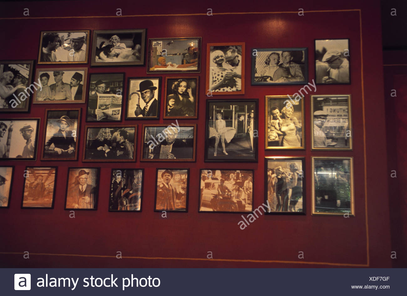Germany, Berlin, Billy wilder it restaurant, wall, photo, public figures, Europe, capital, Potsdam space, bar, bar, film star, glaucoma, Hollywood glaucoma, portrait, product photography, gastronomy - Stock Image