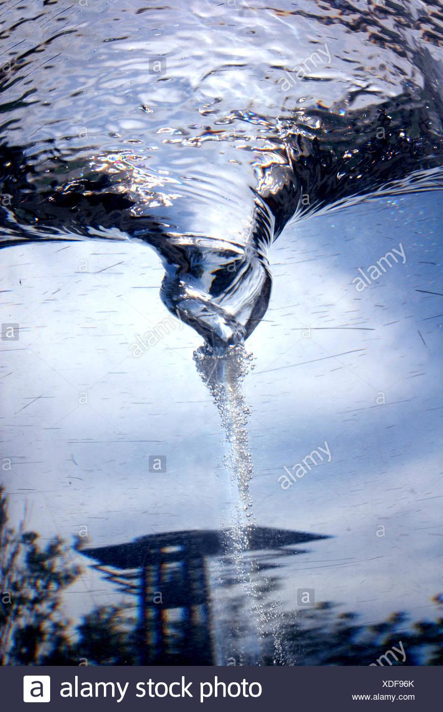 whirlpool water pipes vertebra - Stock Image