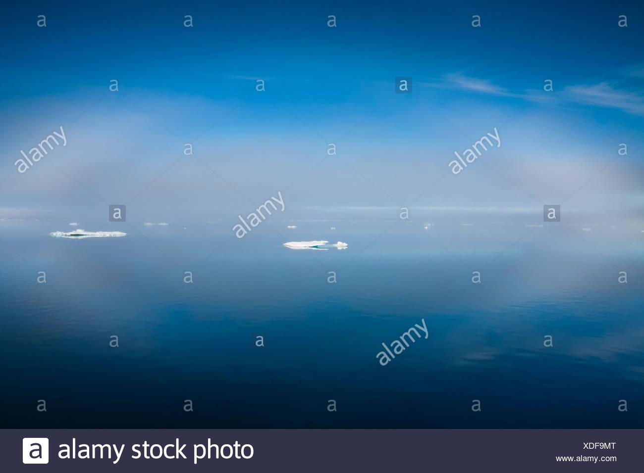 Ice in Barrow Strait, Qikiqtaaluk Region, Nunavut, Canada. - Stock Image