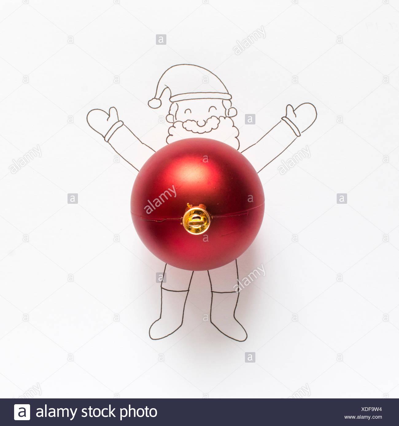 Conceptual Santa Claus - Stock Image