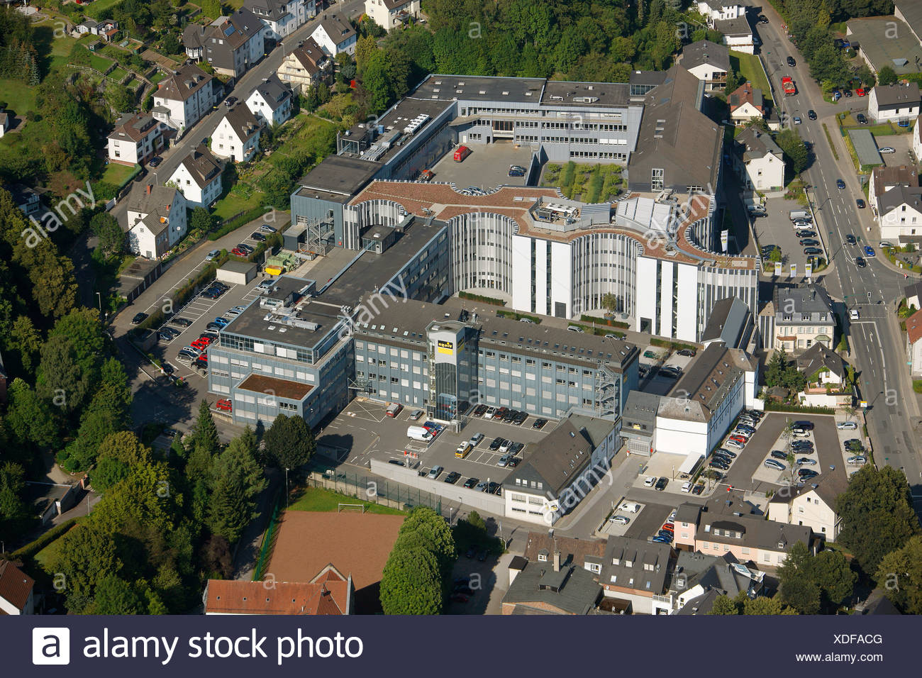Aerial view, Viega GmbH & Co. KG, internationally active SME, small and medium-sized enterprises, in plumbing, Attendorn - Stock Image