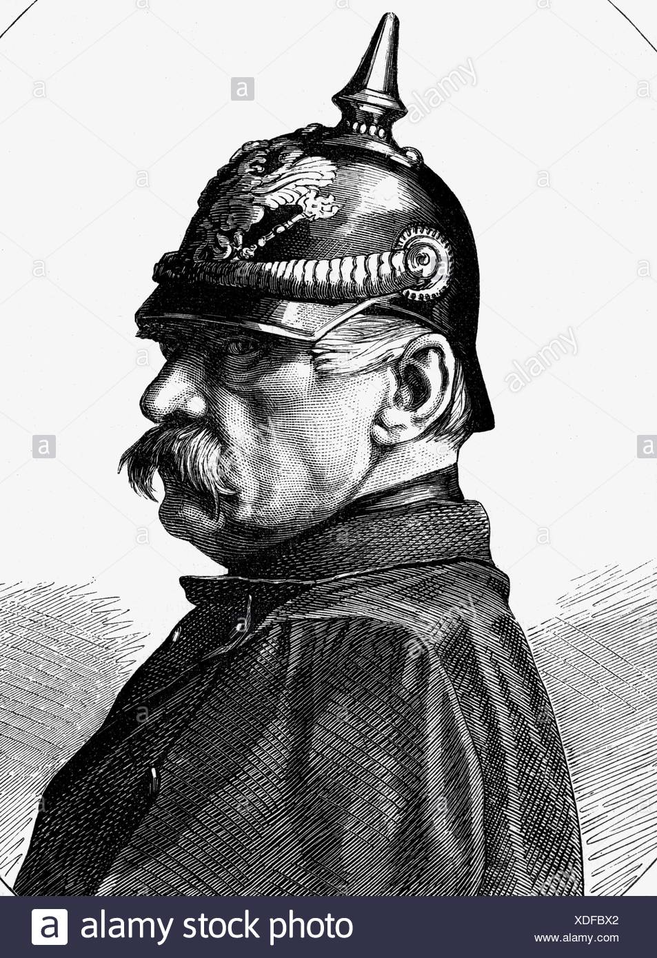 Roon, Albrecht Theodor Graf von, 30.4.1803 - 23.2.1879, Prussian general, Minister of War 1859 - 1873, portrait, wood engraving, 1887, , Additional-Rights-Clearances-NA - Stock Image
