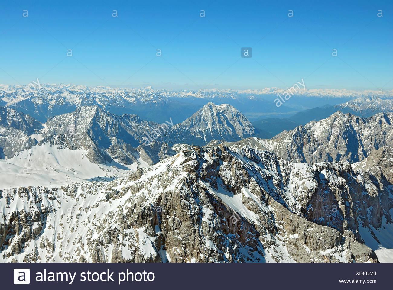 mountains, alps, ski-region, glacier, high mountains, germany, german federal - Stock Image