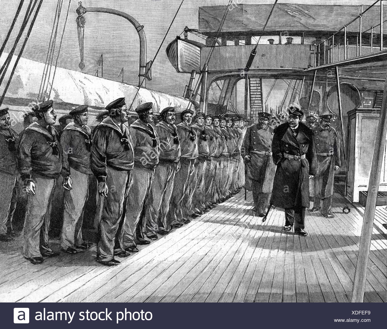William II, 27.1.1859 - 4.6.1941, Emperor of Germany , Additional-Rights-Clearances-NA - Stock Image