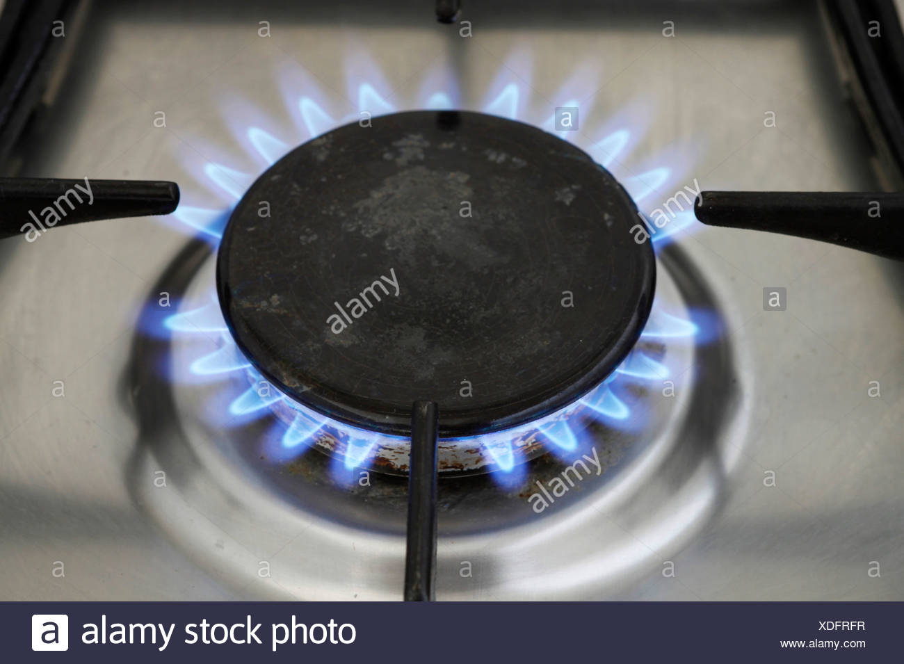 Gas cooker - Stock Image
