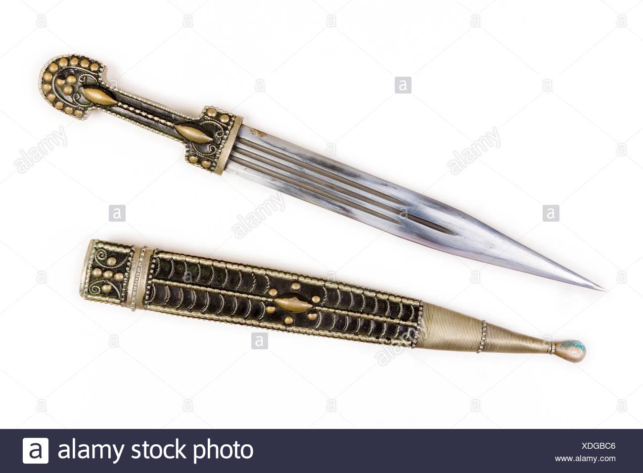 Caucasian dagger (Kinjal) 19 century - Stock Image