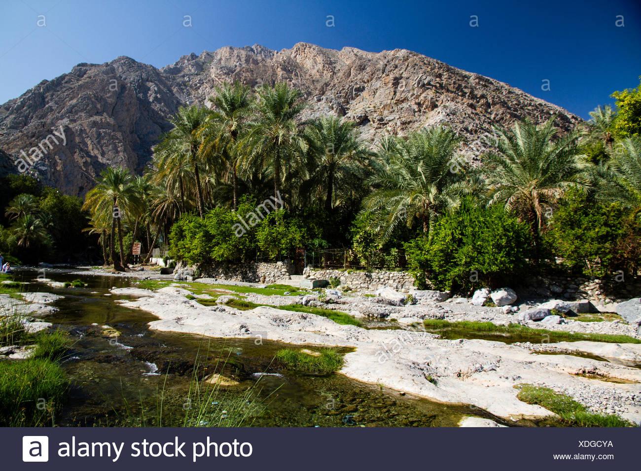 Wadi Ar Raqeem, Nakhar, Oman Stock Photo