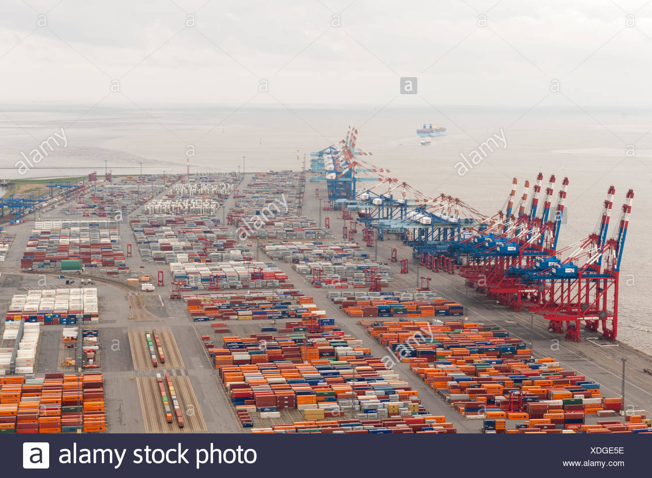 Containerterminal - Stock Image