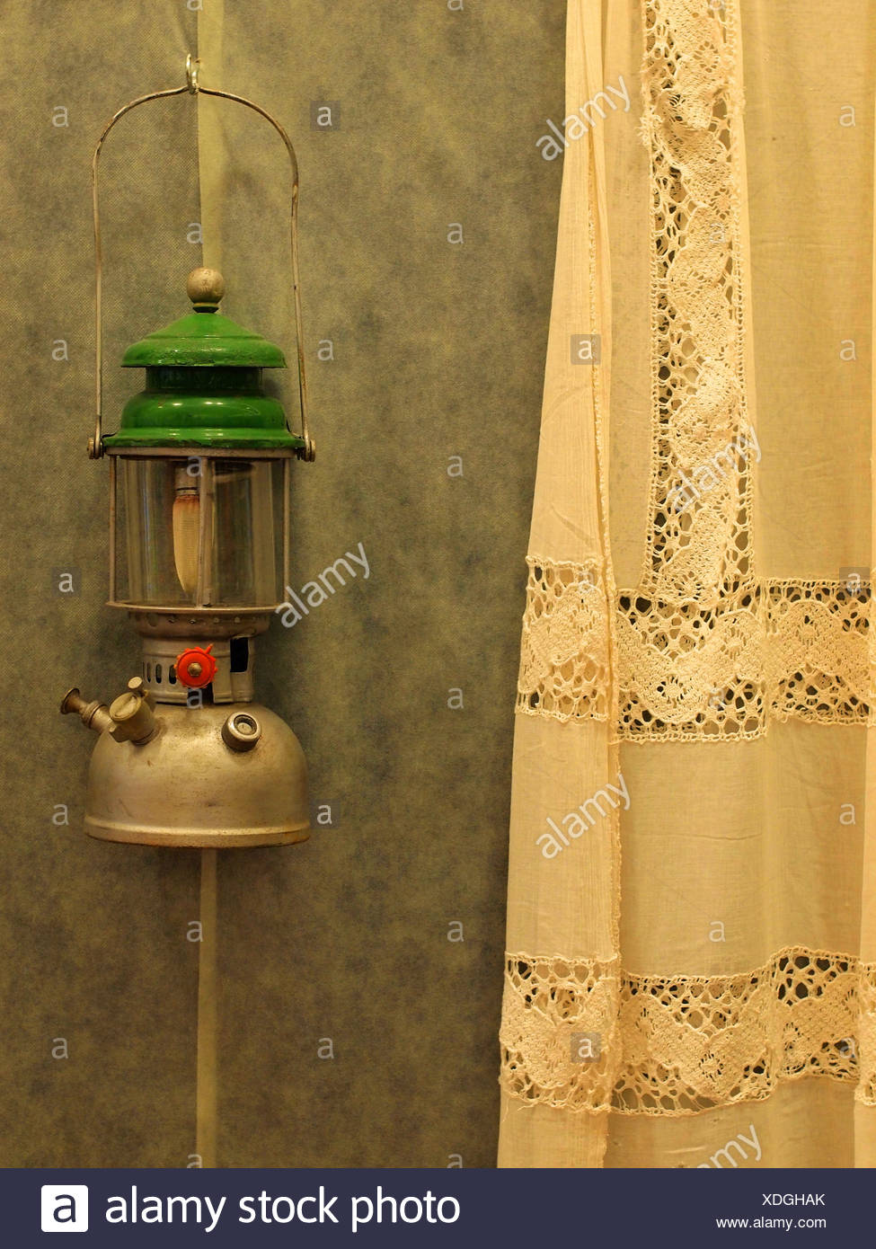 Old Kerosene lamp - Stock Image