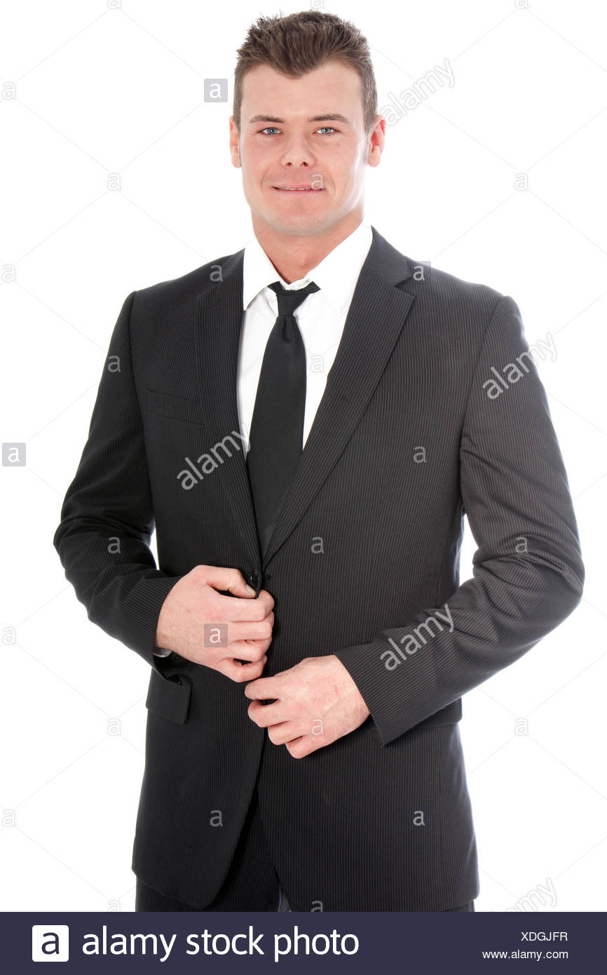 Dapper handsome young businessman - Stock Image