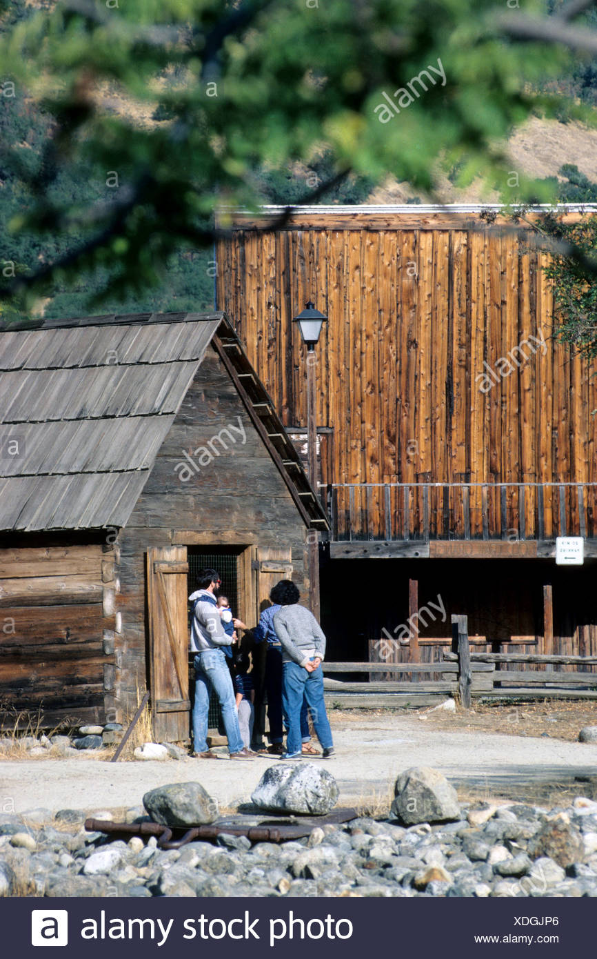 People touring Marshall Gold Discovery Site Colma California - Stock Image
