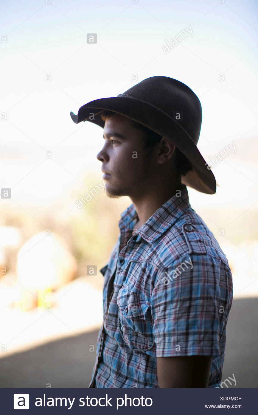 21941349573 Young Man In Cowboy Hat Stock Photos   Young Man In Cowboy Hat Stock ...