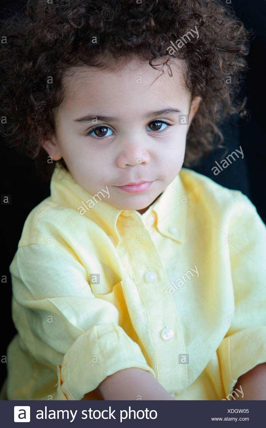Portrait Of A Young Boy - Stock Image