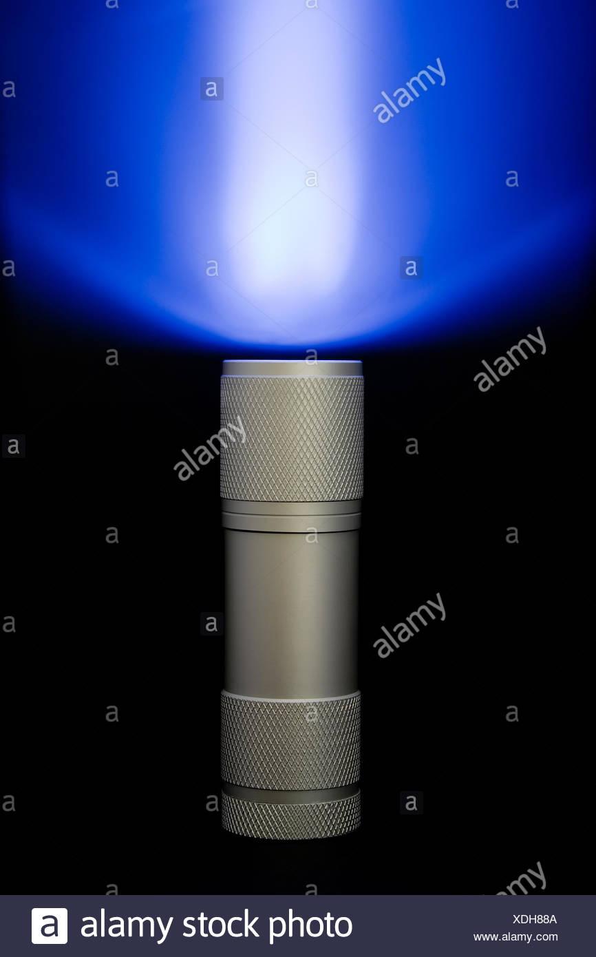 equipment projection pocket lighting illumination torch flashlight pocket lamp - Stock Image