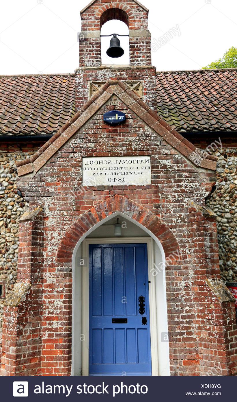 National School built 1840, 19th century Church of England schools, Sculthorpe Norfolk England UK education - Stock Image