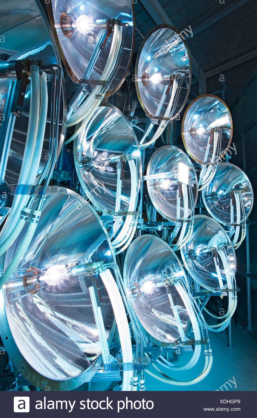 Solar simulator with gas lamps, Paul Scherrer Institut, Villigen, Switzerland - Stock Image