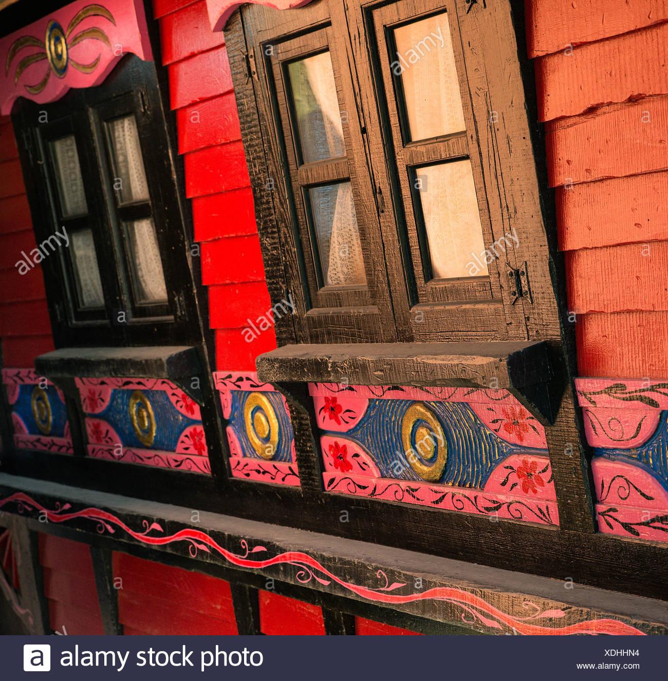 Gypsy caravan detail, Ireland - Stock Image
