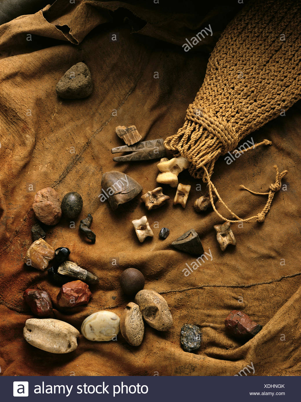 Sangoma Fortune-Telling Bones South Africa - Stock Image