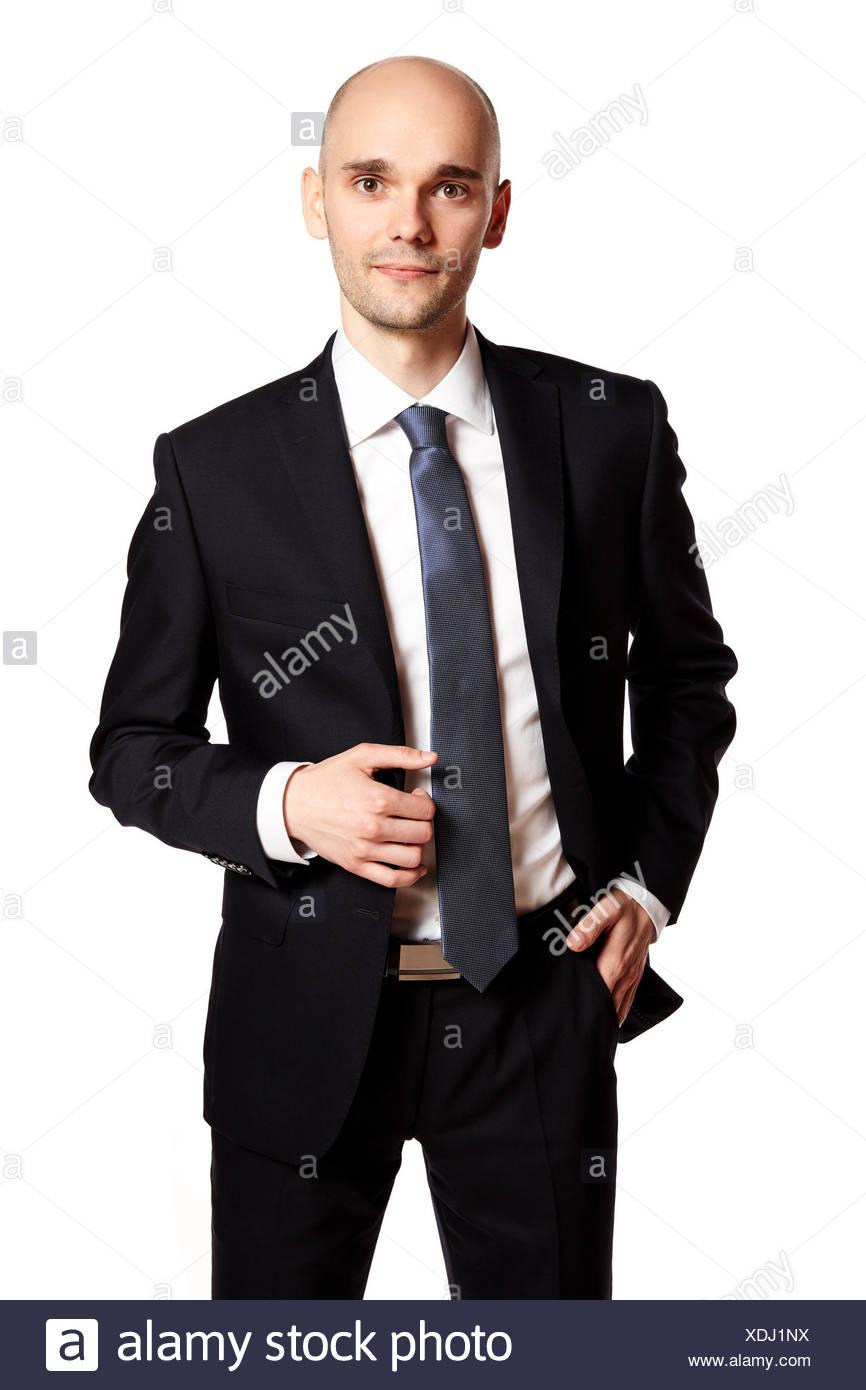 Man in Black Suit - Stock Image