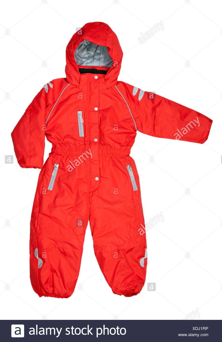 Red Winter rompers - Stock Image
