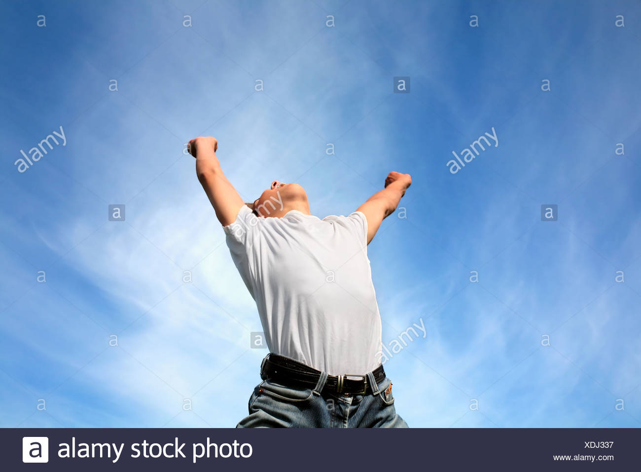 teenager delighted - Stock Image