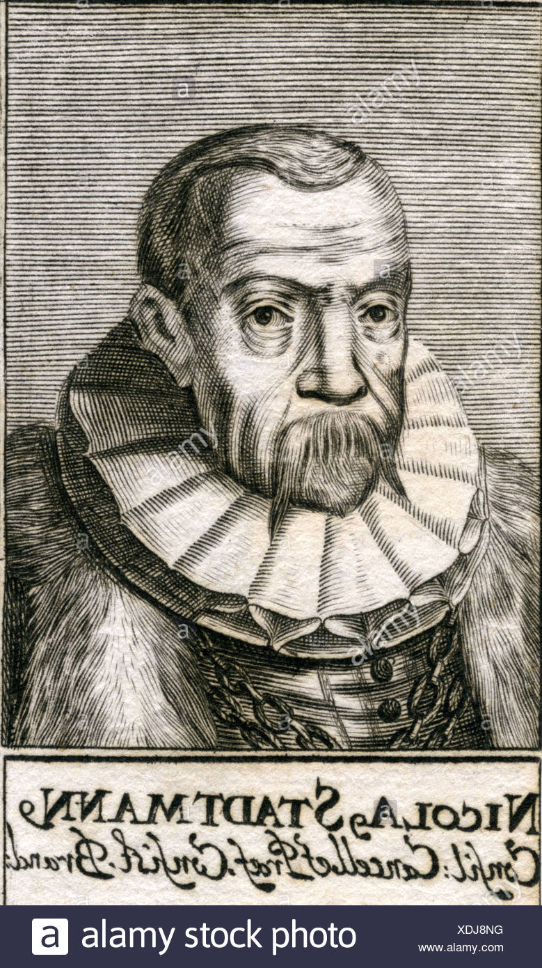 Stadtmann, Nikolaus, 18.2.1531 - 1607, German politician, Privy Councillor, engraving, 17th century, Artist's Copyright has not to be cleared - Stock Image