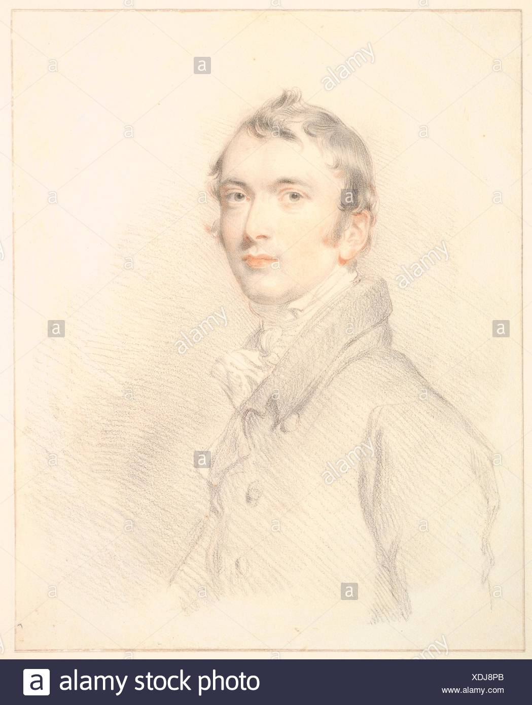 Benjamin Rouse, Junior. Artist: Sir Thomas Lawrence (British, Bristol 1769-1830 London); Sitter: Benjamin Rouse Junior (British, died 1829); Date: - Stock Image
