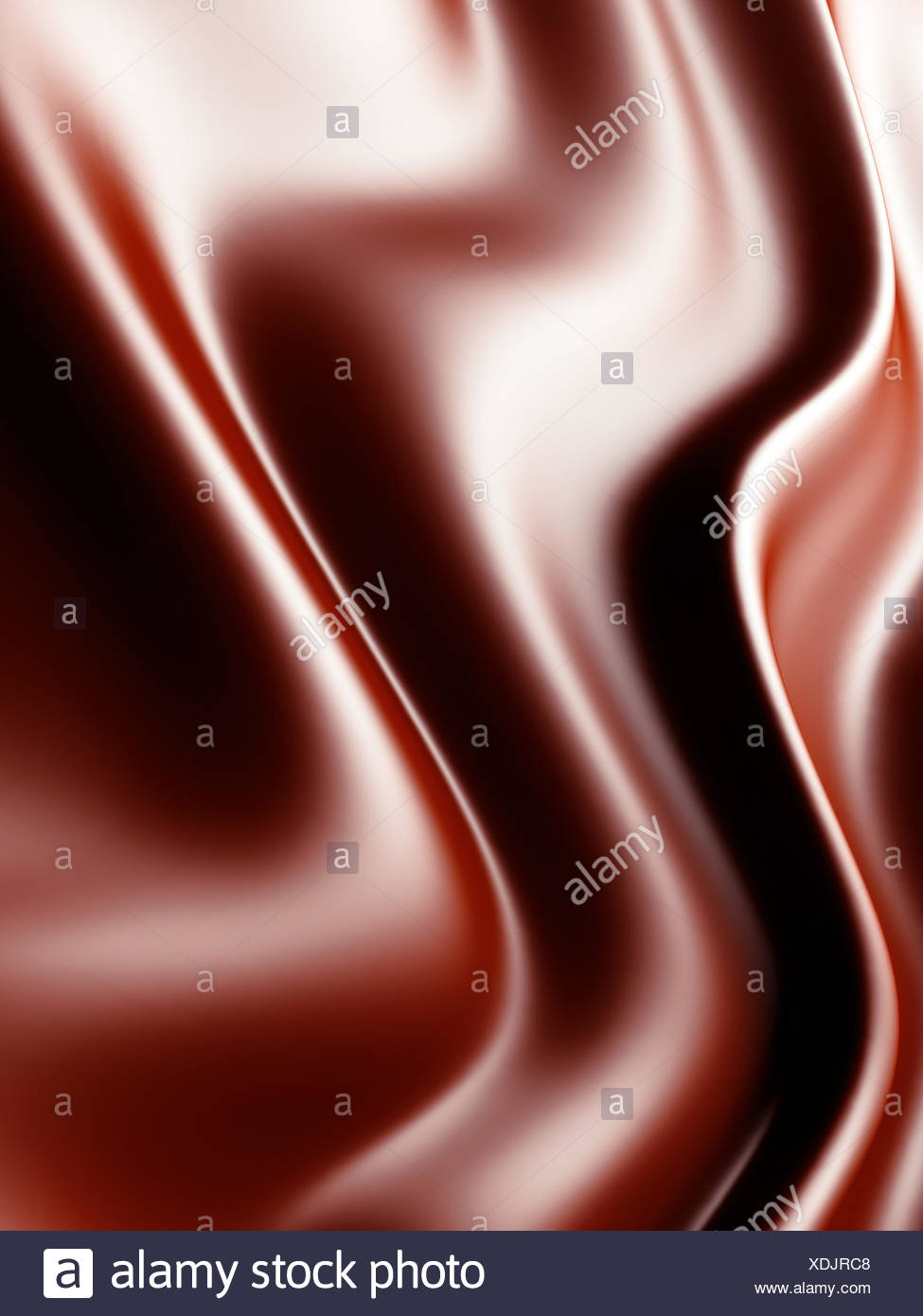 waves from red gentle silk - Stock Image