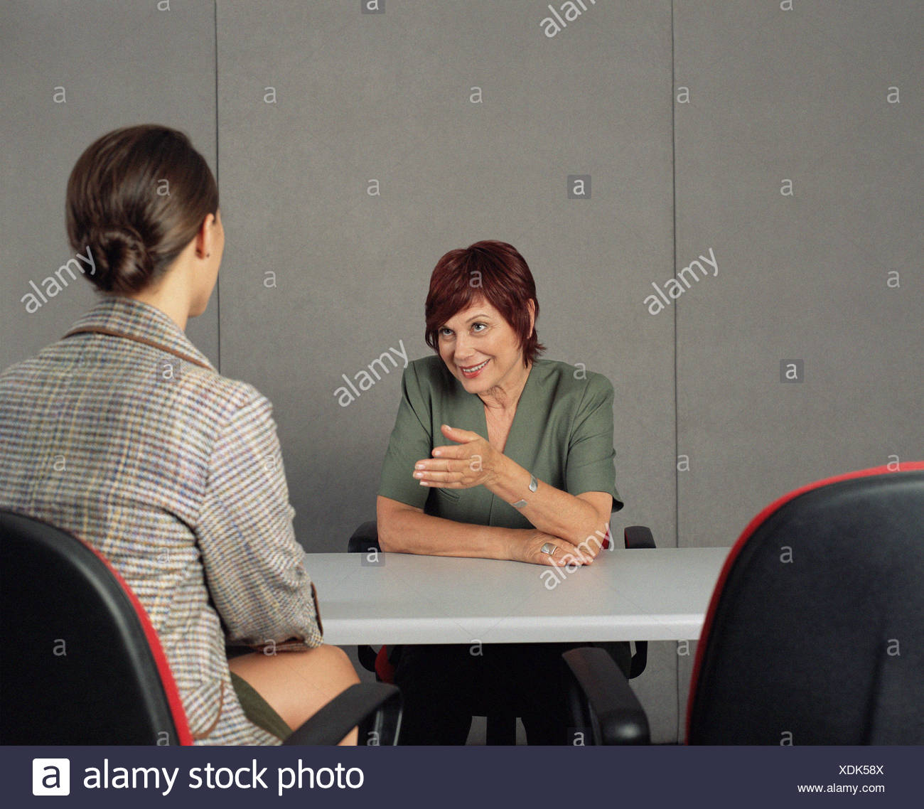 Interviewer asking a question Stock Photo