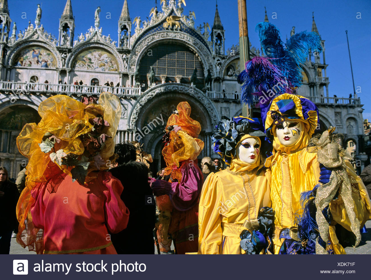 Masks, Piazza San Marco Square, carnival in Venice, Veneto, Italy, Europe Stock Photo