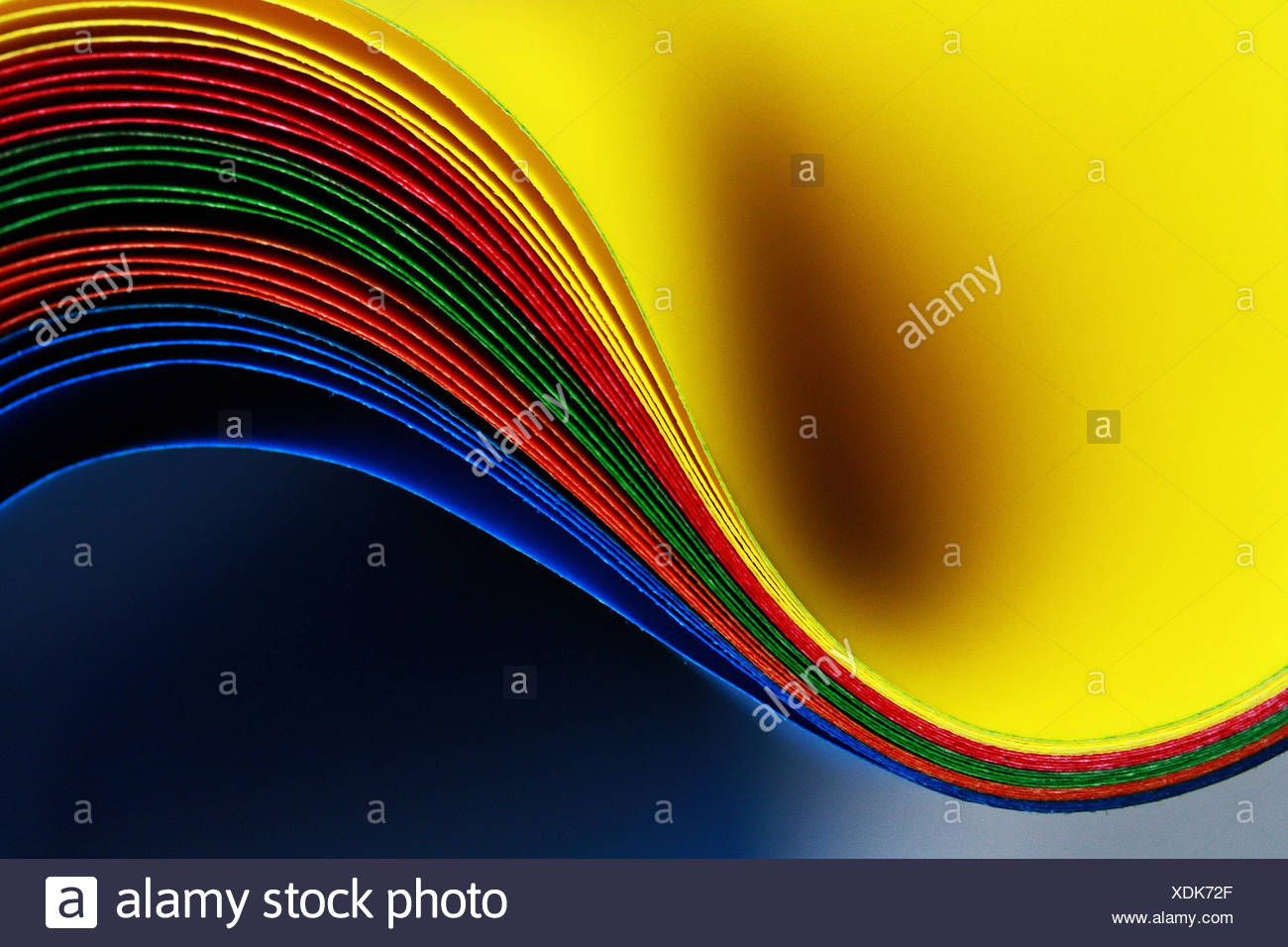 Indonesia, Central Java, Wonosobo, Close up of colorful sheets - Stock Image