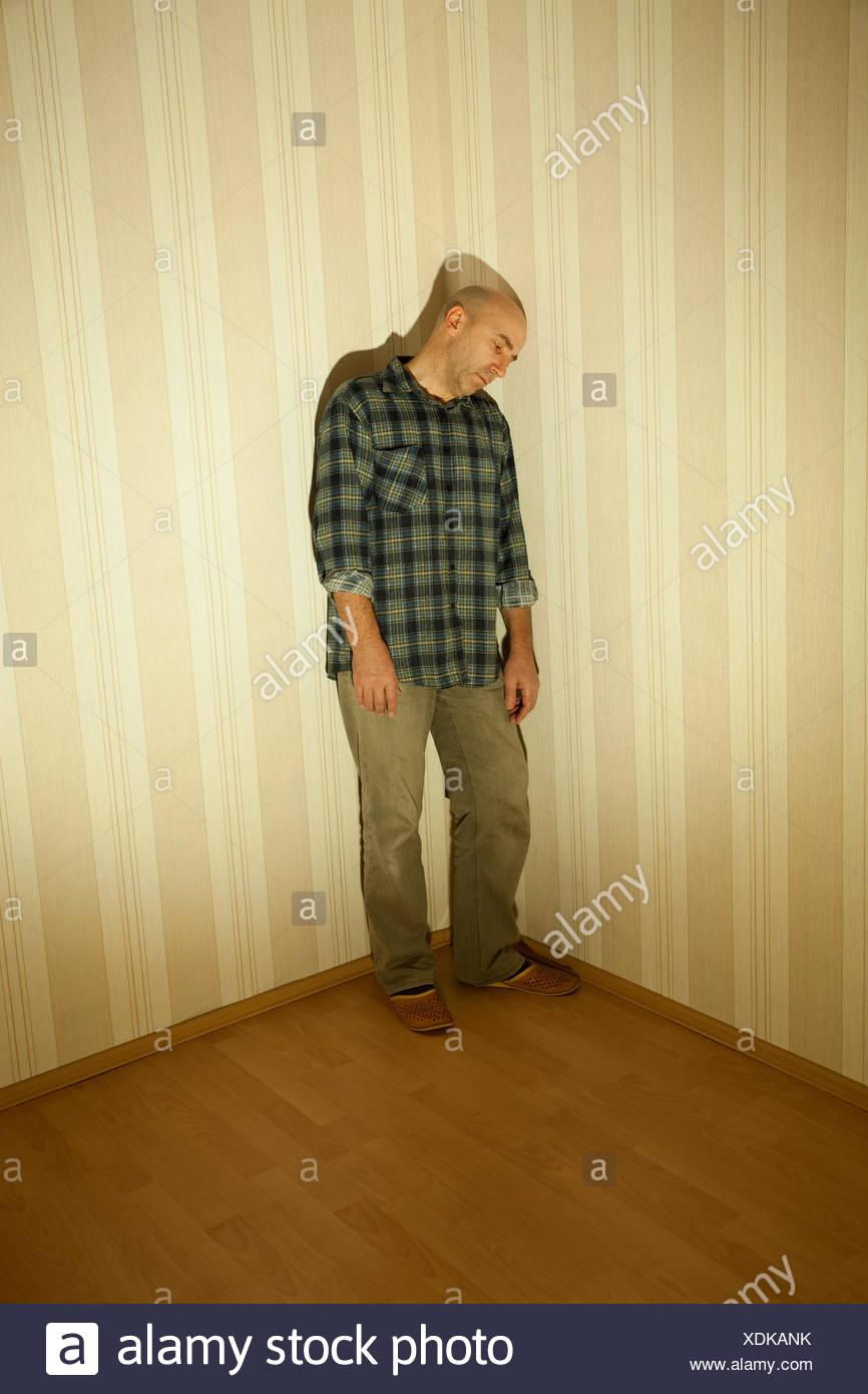 room depression thoughtful - Stock Image