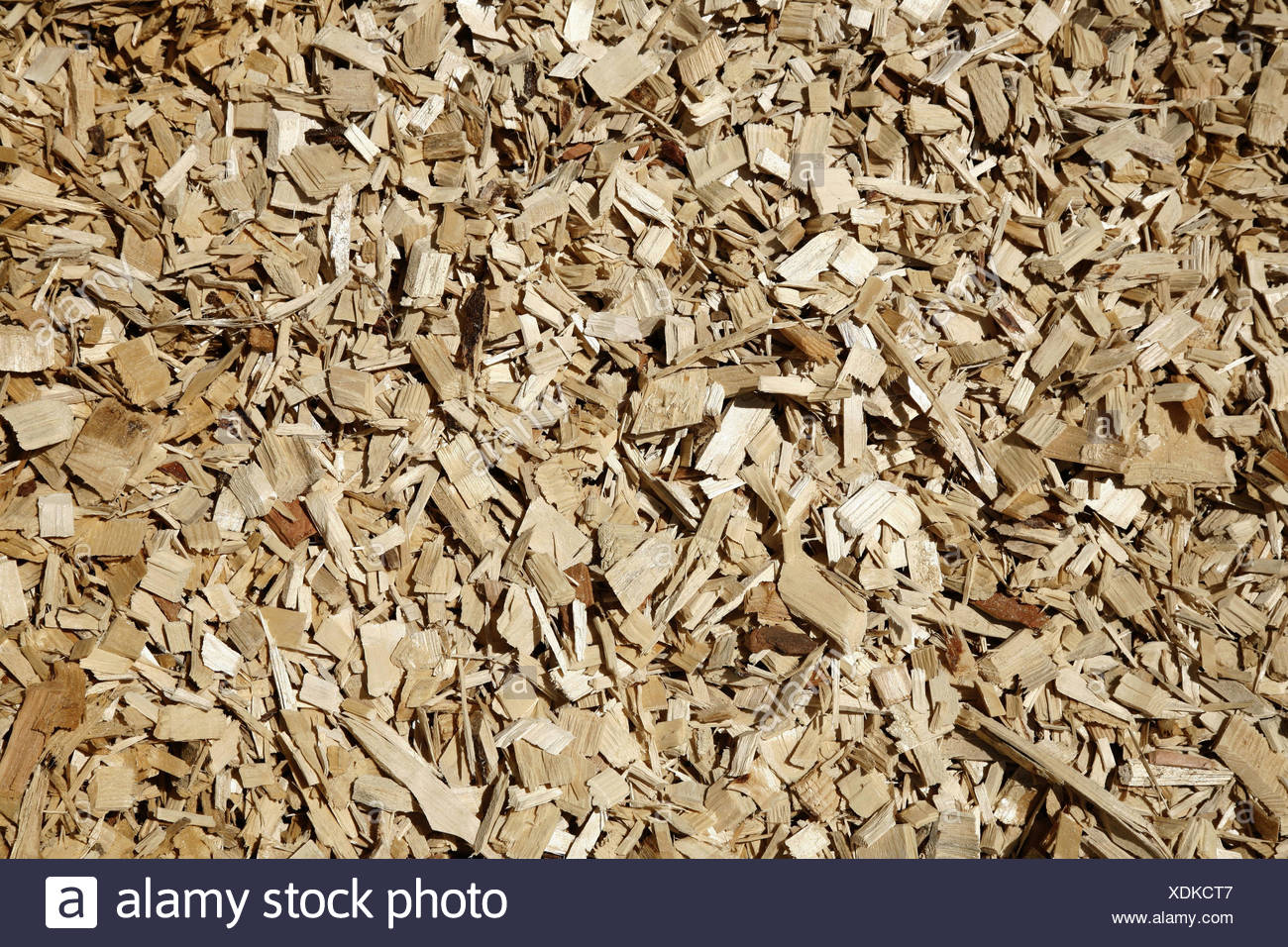 Hack cutlet, medium close-up, wooden, heating, wooden heating, hack cutlet heating, efficiency, environment, environmental care, copy space, background, shredded, wooden cutlet, - Stock Image