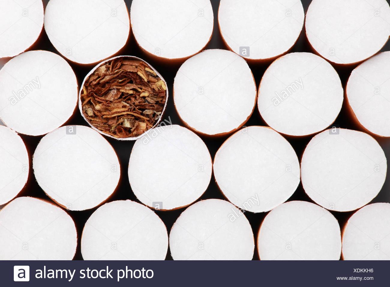 Filterzigaretten Hintergrund - Stock Image