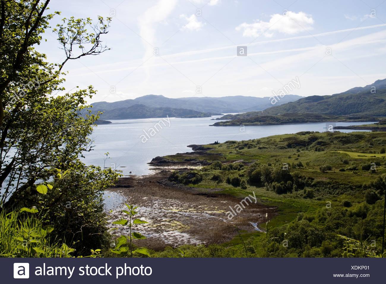 Scotland, Ardnamurchan, peninsula on Loch Sunart - Stock Image